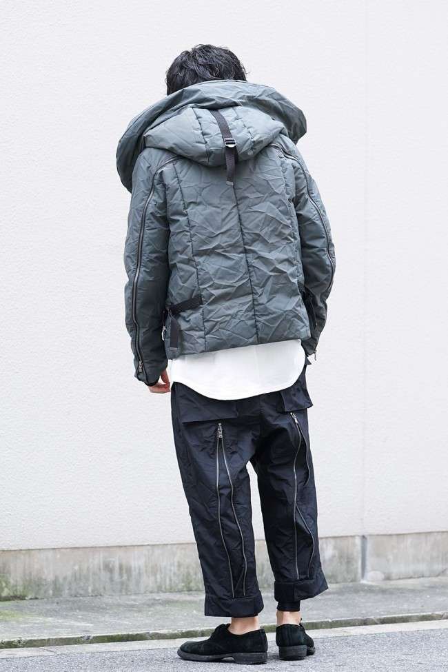 3layer Wrinkled Down Jacket