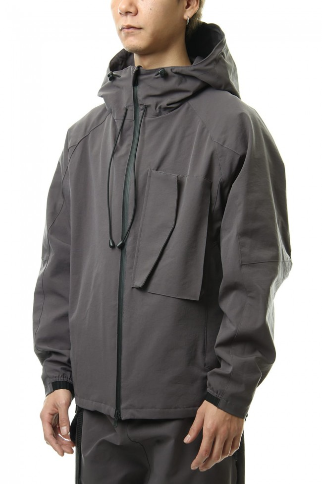 Water-repellent Stretch Mountain parka Gray