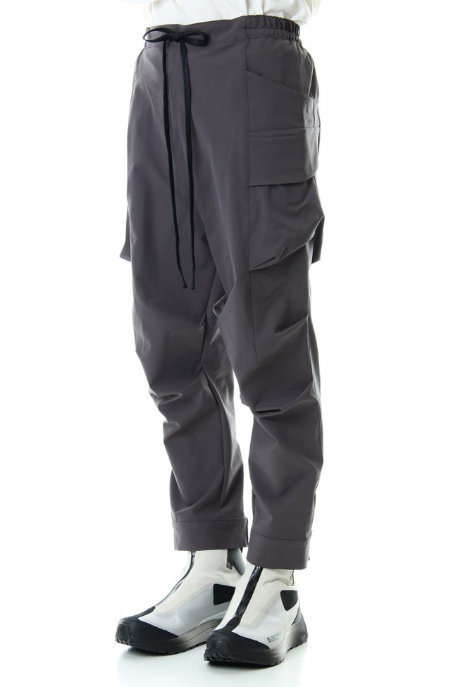 Water-repellent Stretch Gather Tactical pants Gray