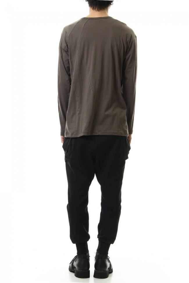 Cotton cashmere Long sleeve T-shirt Olive Drab