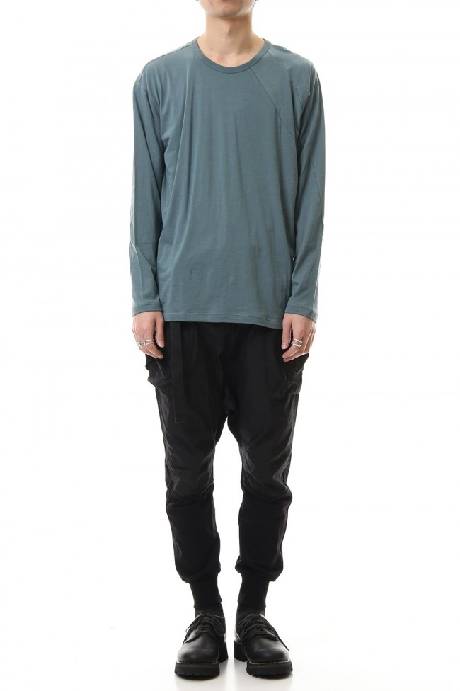 Cotton cashmere Long sleeve T-shirt Turquoise