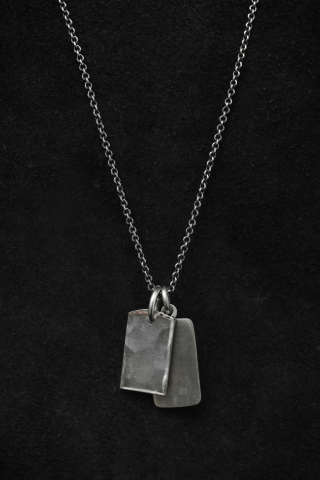 Fine Chain Two Tags Necklace
