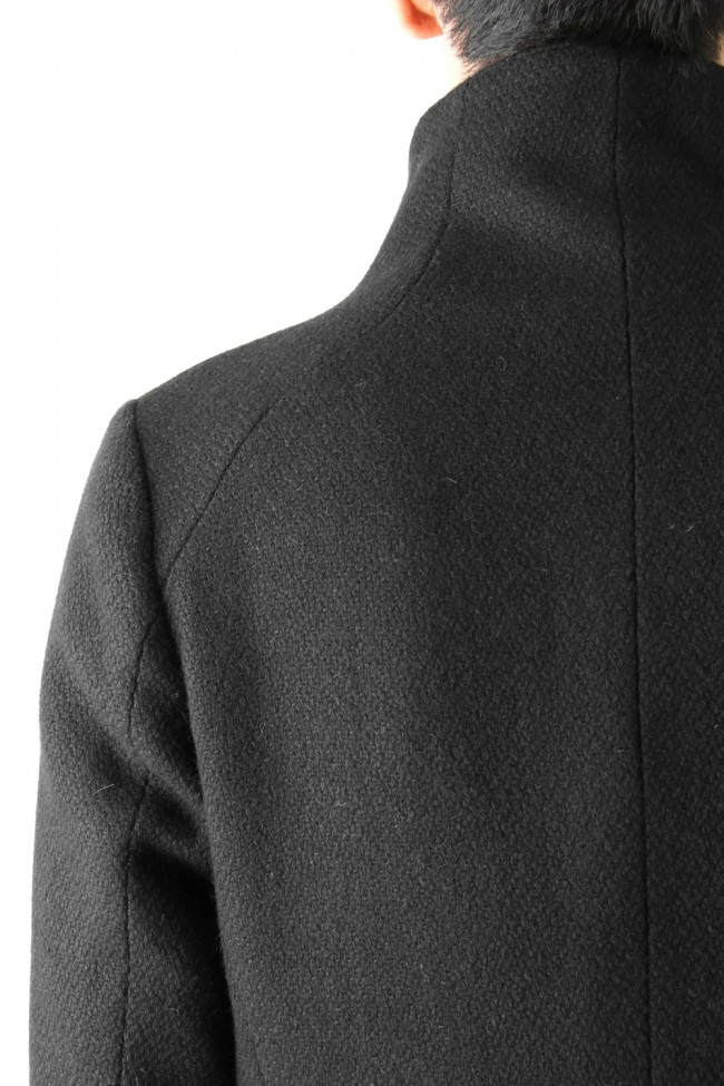 Wool High-Neck Jacket