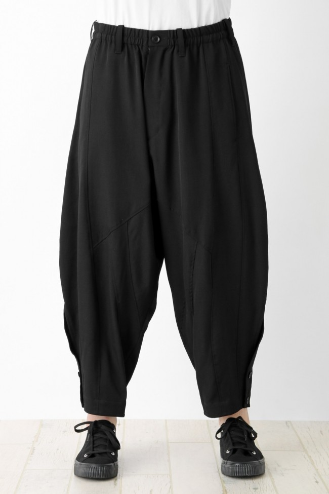 Wool Stitched Sarouel Pants