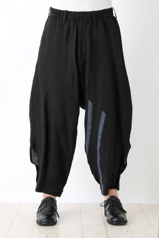 Stitched Sarouel Cropped Pants