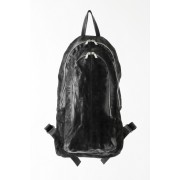 17SS/ DOUBLE ZIP BACKPACK-BLACK-FREE