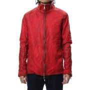 Stand collar single blouson - Red-Red-S