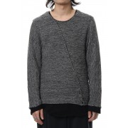 Layered Slash Knit - MIX/BLK-Mix × Black-1