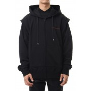 COTTON SWEATTUCKED SHOULDER HOODIE Black-Black-S