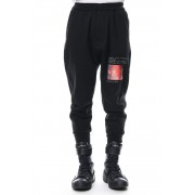 Limited print jogger pants-Black-FREE
