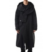 DIVIDED HOODED COAT Black-Black-1