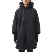 OVERTUCK PADDING HOODED COAT-Black-1