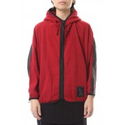 SLASHING ZIP HOODIE Red-Red-1