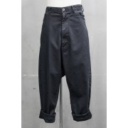 LOW CROTCH BAGGY PANTS Charcoal-Charcoal-1