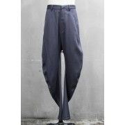 CURVED TROUSERS Blue Gray-Blue Gray-1