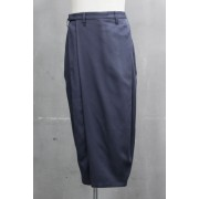 FOLDED BAGGY TROUSERS Blue Gray-Blue Gray-1