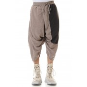 PT Wide cropped pants-SAND-1