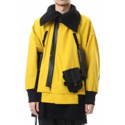 High-neck blouson Yellow-Yellow-1