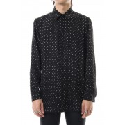 Chiffon star print shirt Black × Off White-Black × Off White-S
