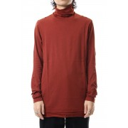 High neck long sleeve indian cotton jersey (SUVIN)-Red-1