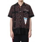 FINE PATTERN BOWLING SHIRT-Black-44