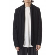 Flannerana smooth stole cardigan Black-Black-1
