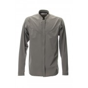 STAND COLLAR SHIRT - CG-1810-Gray-1
