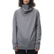 COVERED NECK L/S-T.Gray-1