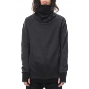 COVERED NECK L/S-Black-1