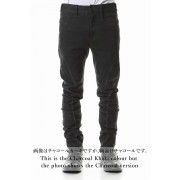 Over Cold Dyed Curve Slim Pants-Charcoal-1
