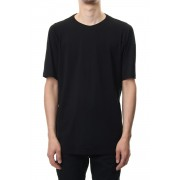 Short sleeve 2/80 Cotton jersey Loose fit - Black-Black-1