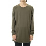 Long sleeve loose fit 80/2 cotton jersey-Olive-1