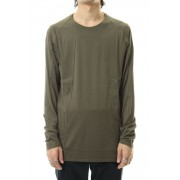 Long sleeve 80/2 cotton jersey-Olive-1