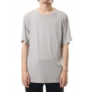 Short sleeve egyptian cotton jersey (GIZA)-White Gray-1