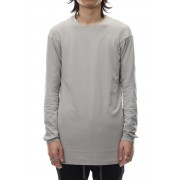 Long sleeve cotton stretch jersey - Plaster-Plaster-1