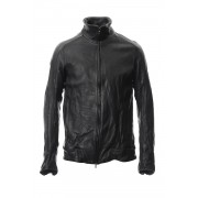 LEATHER TRACK JACKET-Black-1