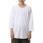 U NECK 3/4 SLEEVE-White-1