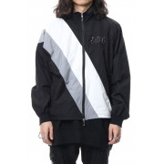 Embroidery Nylon Jacket-Black-1