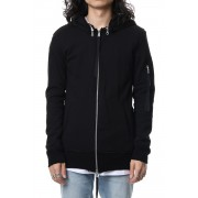 Removable hoodie blouson - Black-Black-2