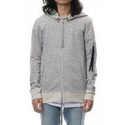 Removable hoodie blouson - Snow Gry-Snow Gry-1