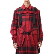 Check/stripe vest-Rudy Red x Black Check-Free