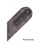 Cow Leather Belt-Purple Gray-1