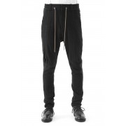 Easy Pants Silk Linen Random Chesk-Black-1