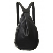 Tuck Back Pack BIG Soft Leather - DH-I09-790-Black-Free