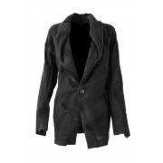Distorted Check Needle Punch Jacket - 07-J02-Black x Black-1