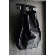 LEATHER 2WAY TOTE BAG-Black-FREE