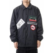 Wappen embroidery Coach jacket-Black-3