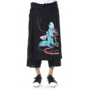 Wrap Skirt Pants Type2 Ghost In The Shell - Ground Y-Black-3