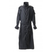 Nylon Taffeta Big Trench coat-Black-1
