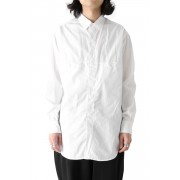 Classic Ring Stitching Shirt-White-2